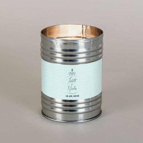 Bougie métal de mariage bord-de-mer à personnaliser