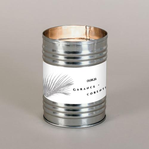 Bougie métal de mariage branche à personnaliser