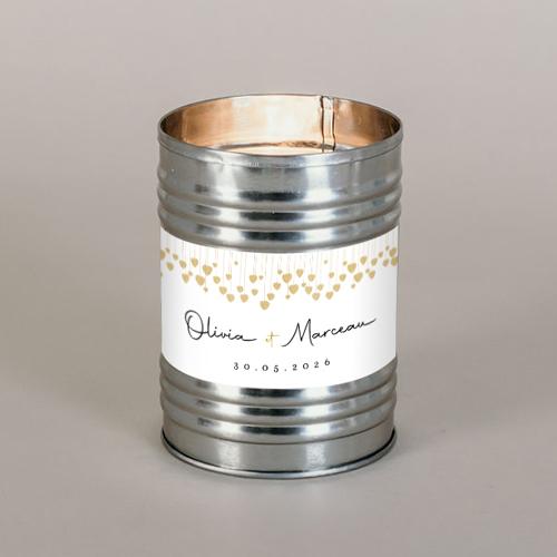Bougie métal de mariage coeurs-suspendus à personnaliser
