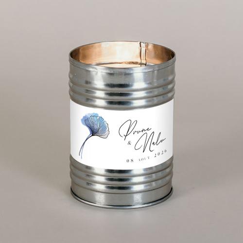 Bougie métal de mariage coquelicot à personnaliser
