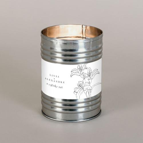 Bougie métal de mariage dallma à personnaliser