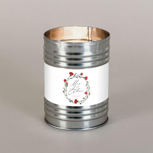 Bougie métal de mariage dellus à personnaliser