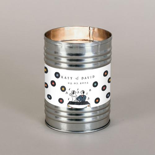 Bougie métal de mariage djs à personnaliser