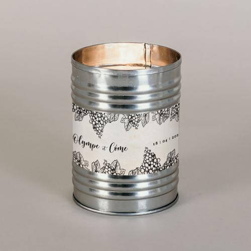 Bougie métal de mariage grappes à personnaliser