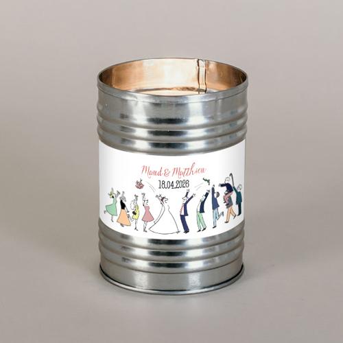 Bougie métal de mariage lancer-de-bouquet à personnaliser