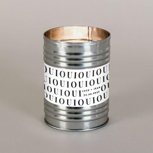 Bougie métal de mariage lettering à personnaliser