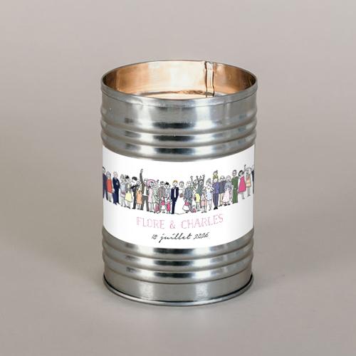 Bougie métal de mariage photo-de-groupe à personnaliser