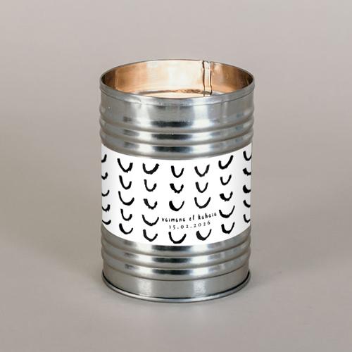 Bougie métal de mariage post-scriptum à personnaliser