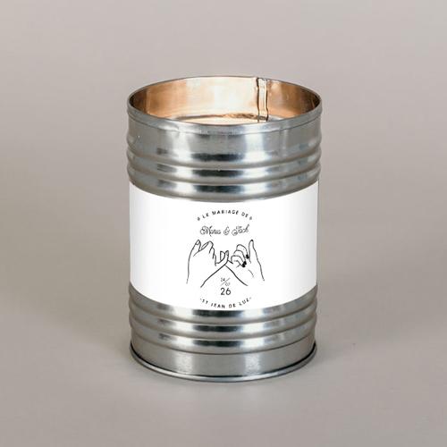 Bougie métal de mariage promesse à personnaliser