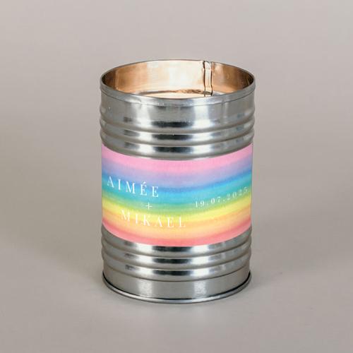 Bougie métal de mariage rainbow à personnaliser