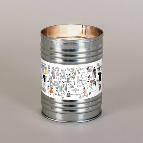 Bougie métal de mariage scene-de-mariage à personnaliser