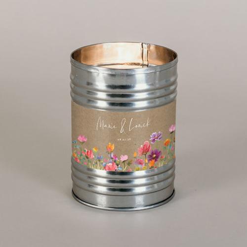 Bougie métal de mariage stellaire à personnaliser