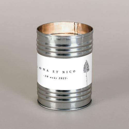 Bougie métal de mariage tall-tree à personnaliser