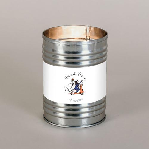 Bougie métal de mariage vespa à personnaliser