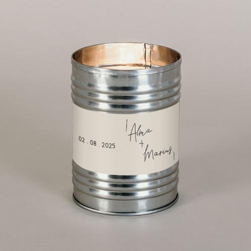 Bougie métal de mariage warp à personnaliser