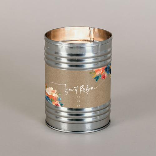 Bougie métal de mariage zinnia à personnaliser