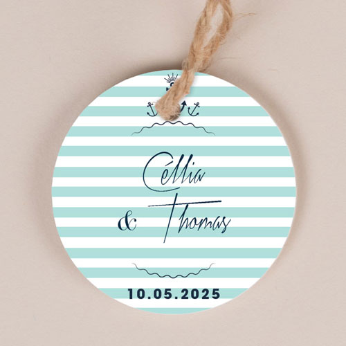 Etiquette imprimées de mariage bord-de-mer à personnaliser