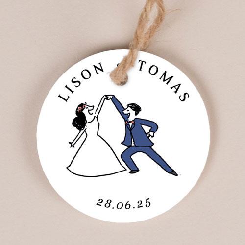 Etiquette imprimées de mariage danseurs à personnaliser