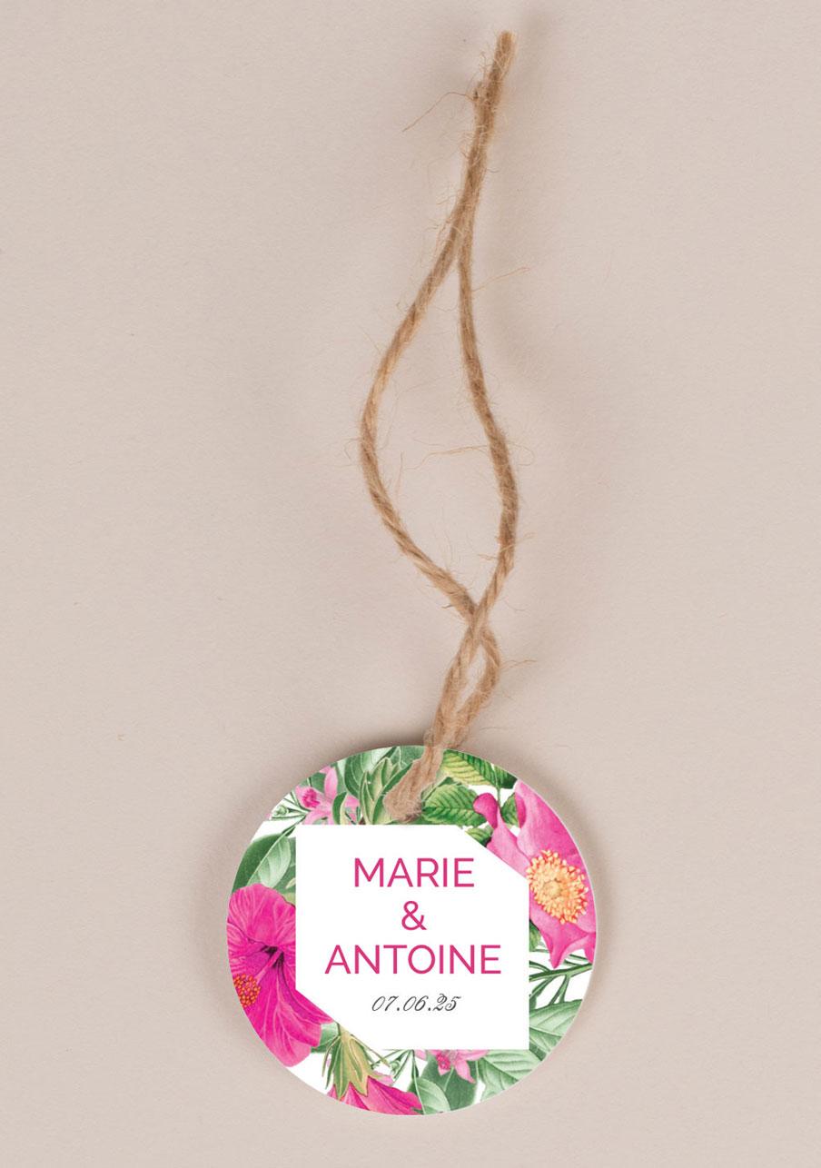 etiquette-imprimee mariage personnalisé Floral