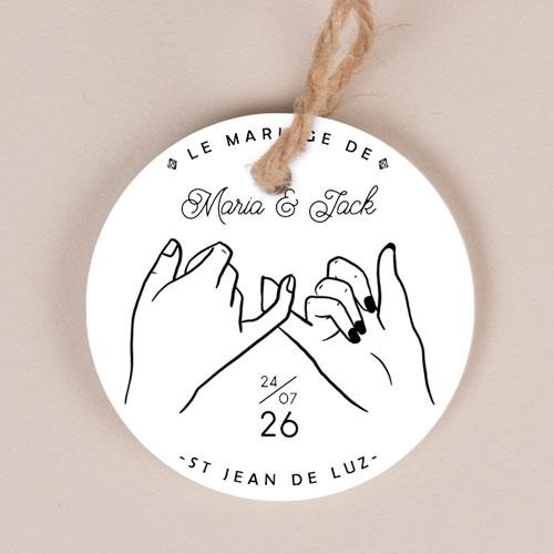 Etiquette imprimées de mariage promesse à personnaliser