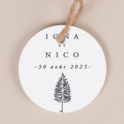 Etiquette imprimées de mariage tall-tree à personnaliser