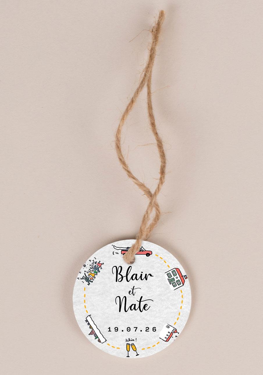 etiquette-imprimee mariage personnalisé Timeline