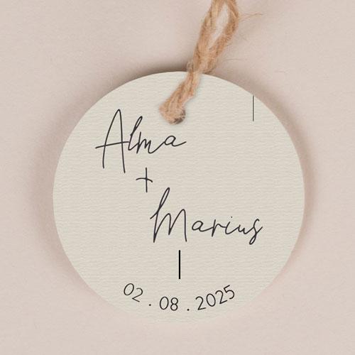Etiquette imprimées de mariage warp à personnaliser