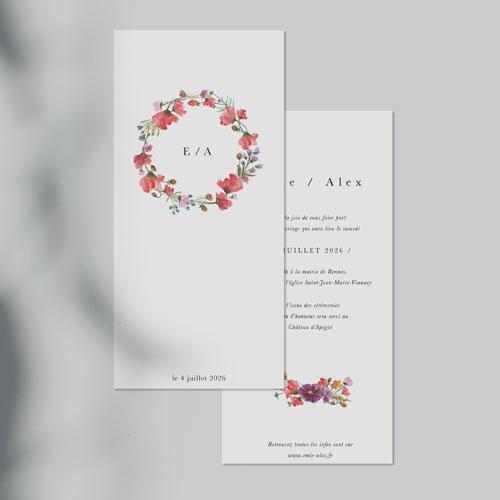 faire-part de mariage alexandria à personnaliser