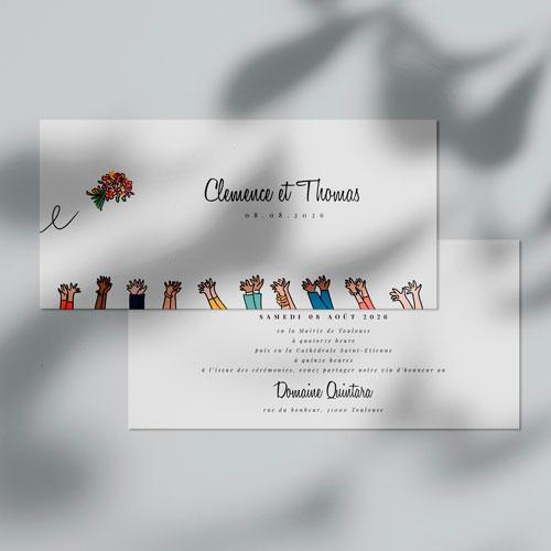 faire-part de mariage bouquet à personnaliser