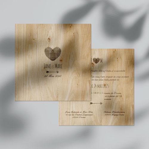 faire-part de mariage coeur à personnaliser