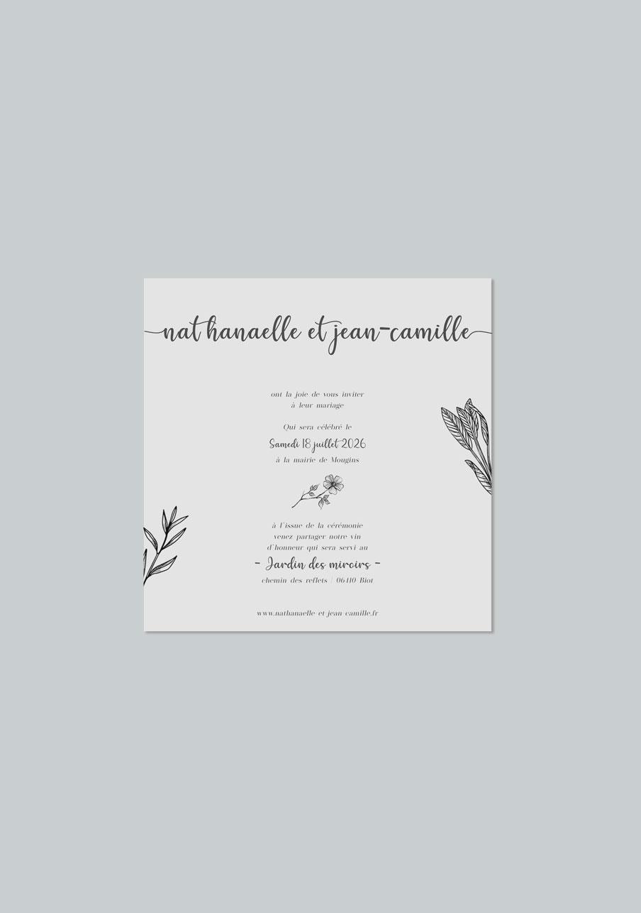 faire-part mariage Composition florale