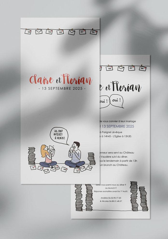 faire-part mariage personnalisé Invitations