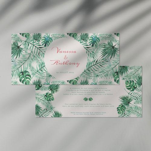 faire-part de mariage jungle à personnaliser