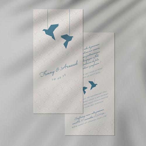 faire-part de mariage origami à personnaliser