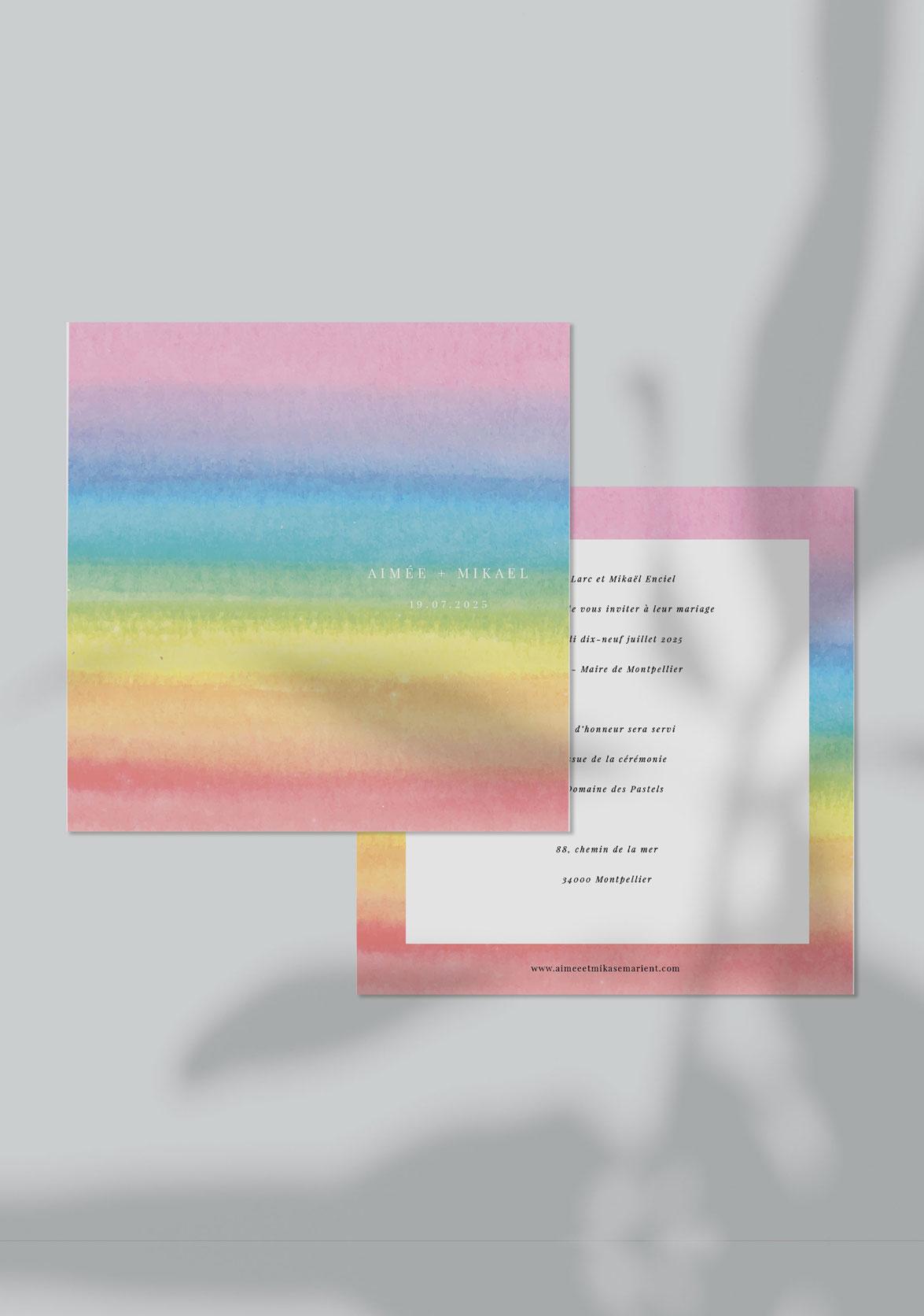 faire-part mariage personnalisé Rainbow