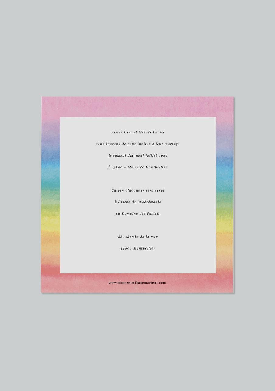 faire-part mariage Rainbow