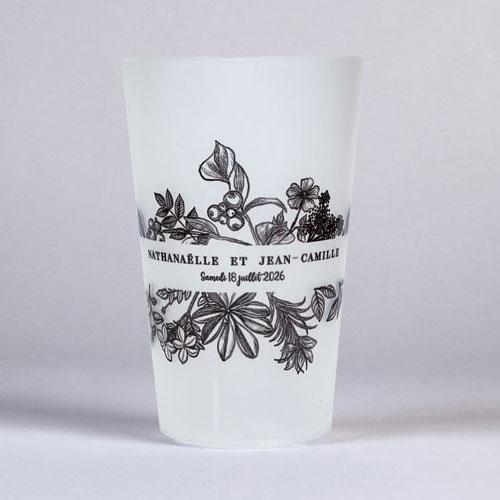gobelet de mariage composition-florale à personnaliser