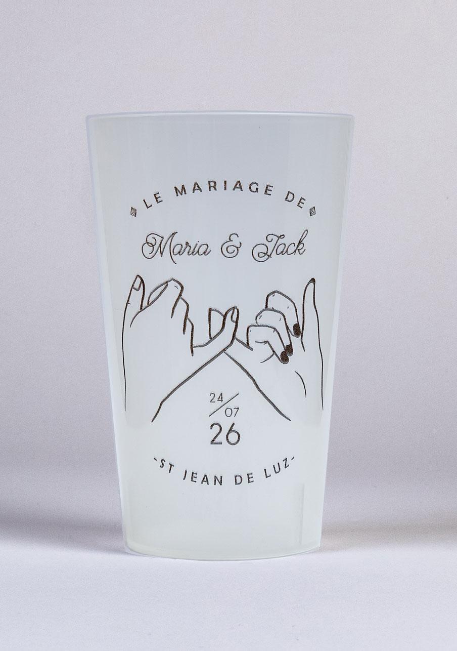 gobelet mariage personnalisé Promesse