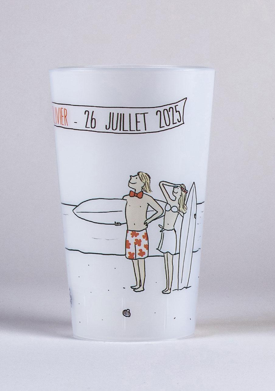 gobelet mariage personnalisé Surf