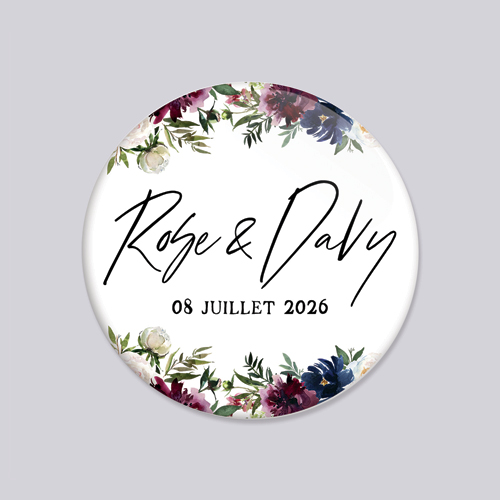 Magnet de mariage belladone à personnaliser