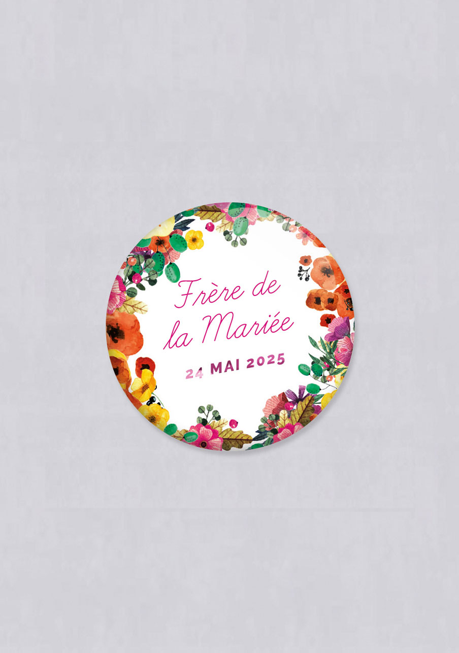 magnet mariage personnalisé Champêtre