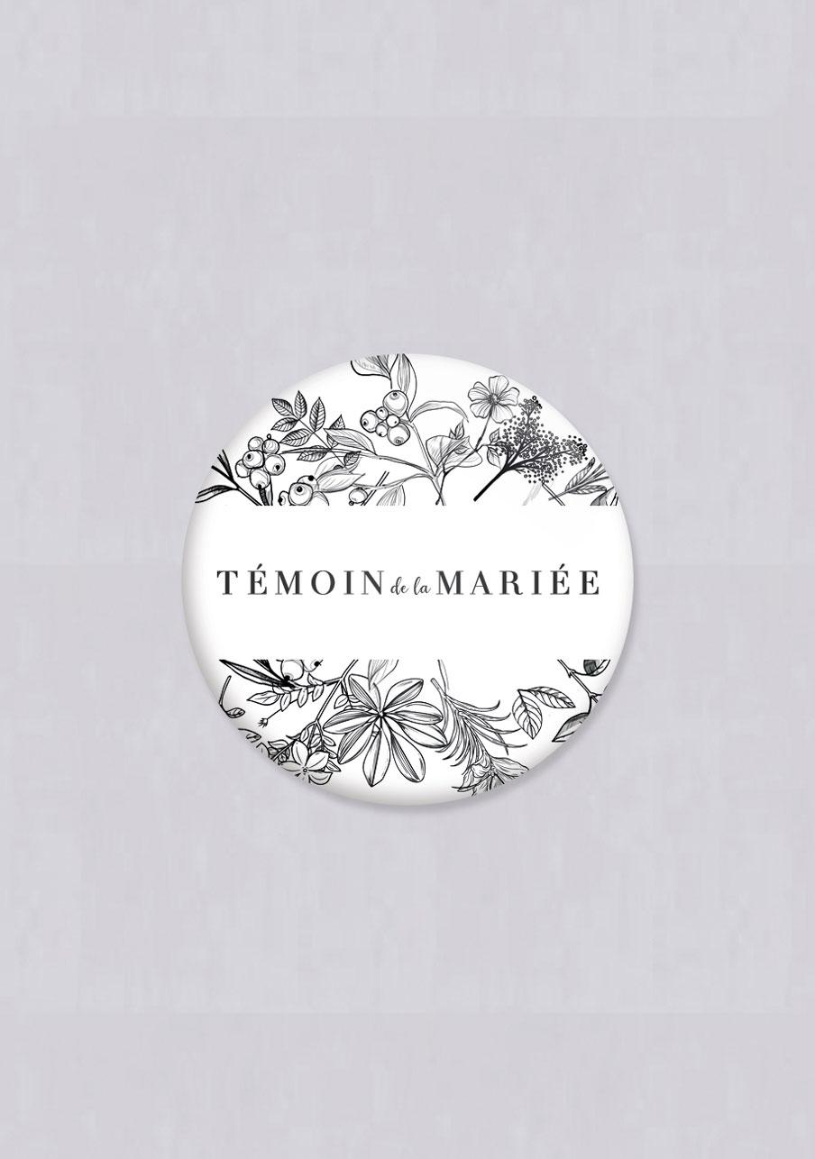 magnet mariage Composition florale