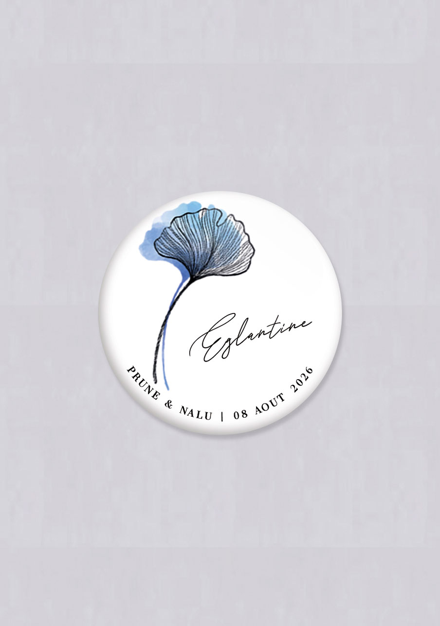 magnet mariage Coquelicot