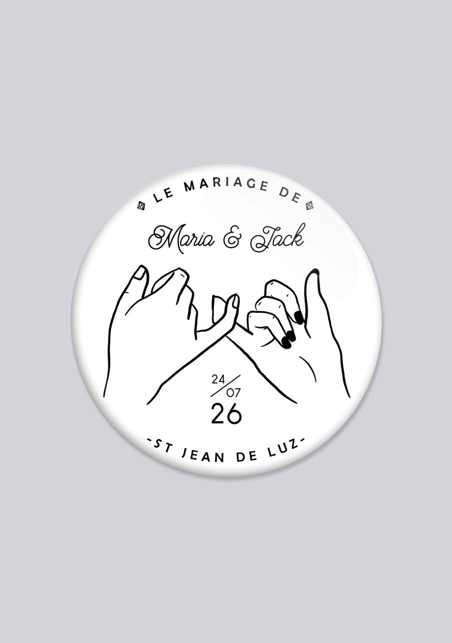 magnet mariage personnalisé Promesse