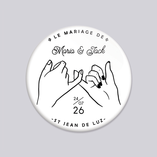 Magnet de mariage promesse à personnaliser