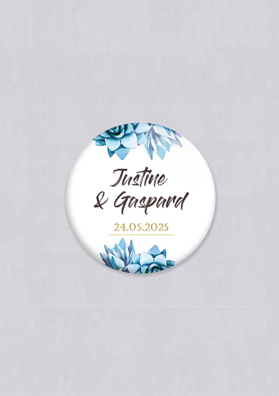 magnet mariage personnalisé Succulentes