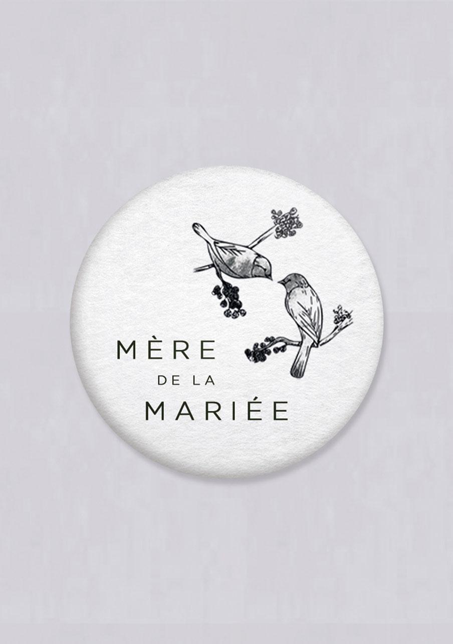 miroir mariage Birds