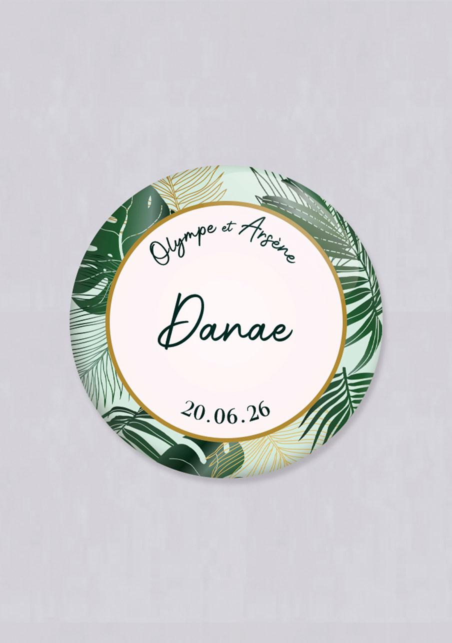 miroir mariage Cadre tropical