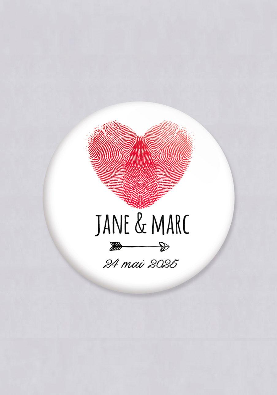 miroir mariage personnalisé Coeur
