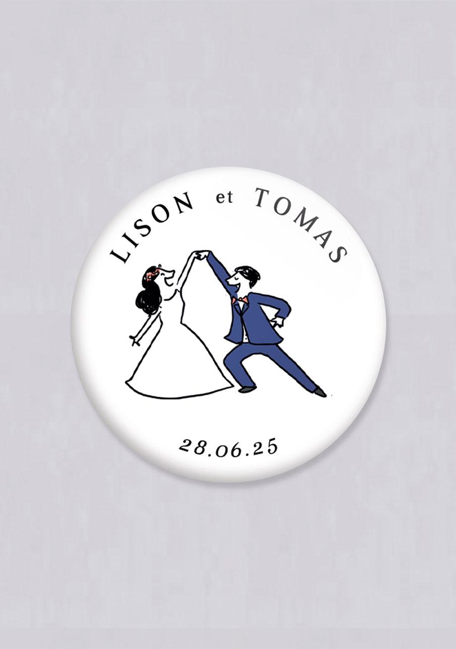 miroir mariage personnalisé Danseurs